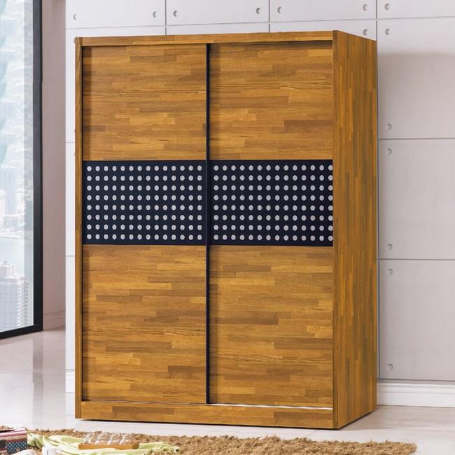 【YFS】AS-艾拉集層木5x7推門衣櫥-151x60x197cm