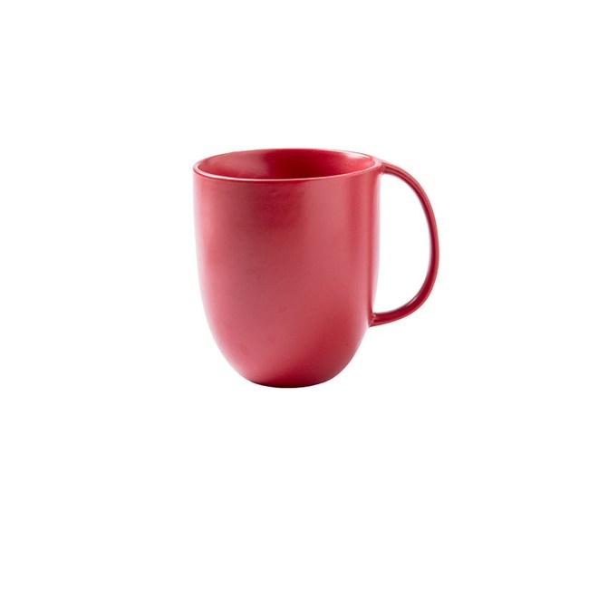 創意純色簡約咖啡杯馬克杯300ml紅