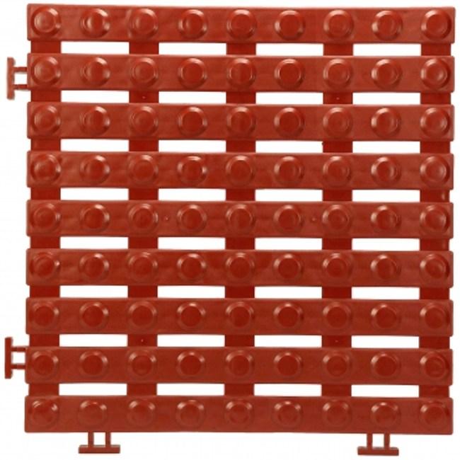 安可銅錢地板4片(30x30x1.6公分)(紅)