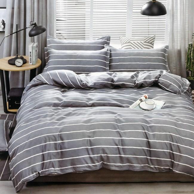 BEDDING-活性印染四件式全鋪棉兩用被床包組-往事(加大)