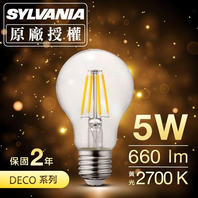 喜萬年SYLVANIA LED經典款燈絲燈泡 A60 黃光_1入