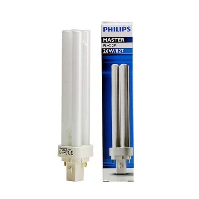 飛利浦PLC26W 螢光燈管黃光2P