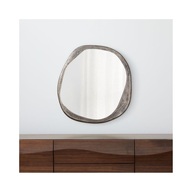 Crate&Barrel Element 不規則金屬壁鏡