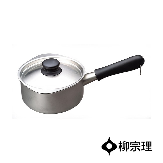 日本柳宗理 不鏽鋼霧面牛奶鍋16cm(附蓋)