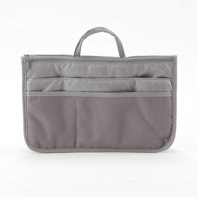 微旅行雙拉鏈袋中袋 灰