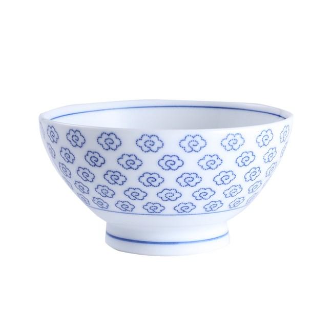 日本晨月茶碗12cm雲繪