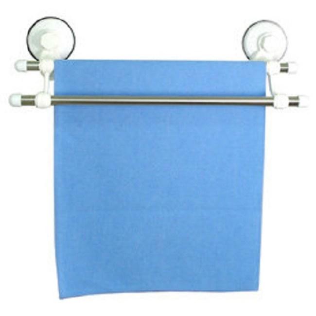 無痕免釘吸盤式不鏽鋼雙桿毛巾架