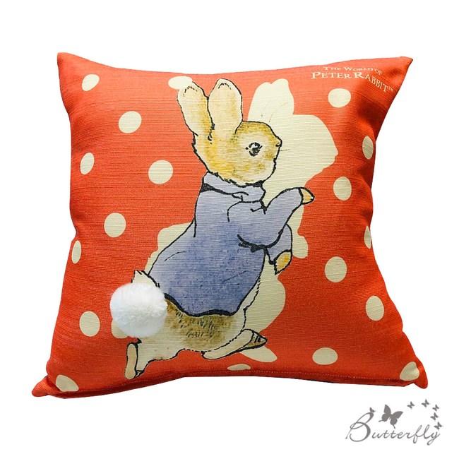 【BUTTERFLY】台製-Peter Rabbit彼得兔經典系列抱枕-側跑兔