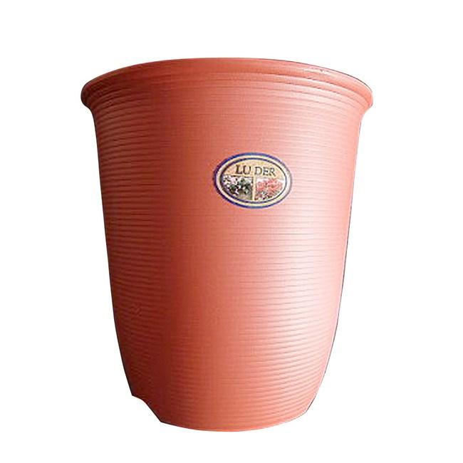Luder 塑質素陶盆6吋 紅