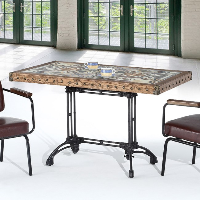 【YFS】克萊4.4尺餐桌132x73x80cm