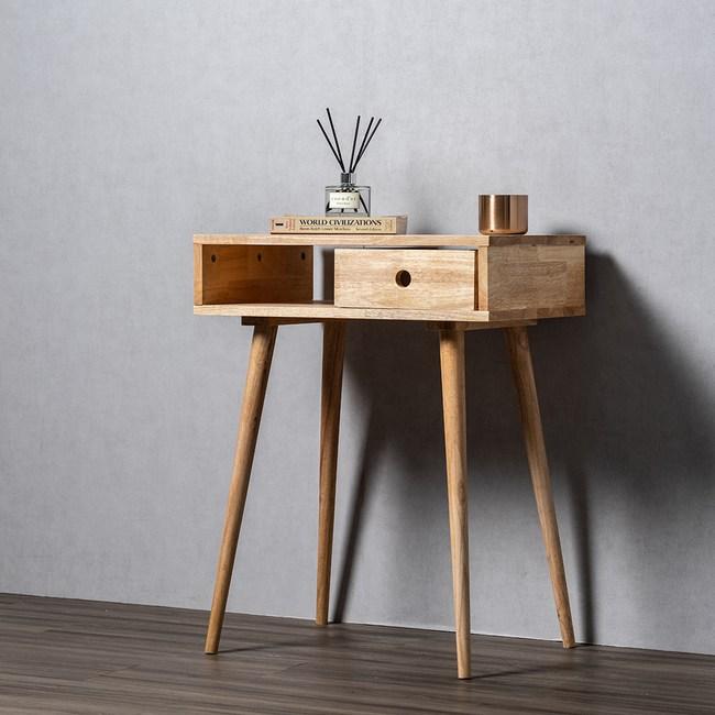 實木簡約日式高腳組合邊桌60cm 高(60x40x78)