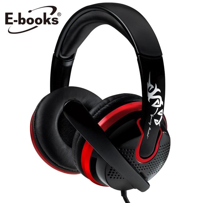 E-books S27 電競頭戴耳機麥克風黑