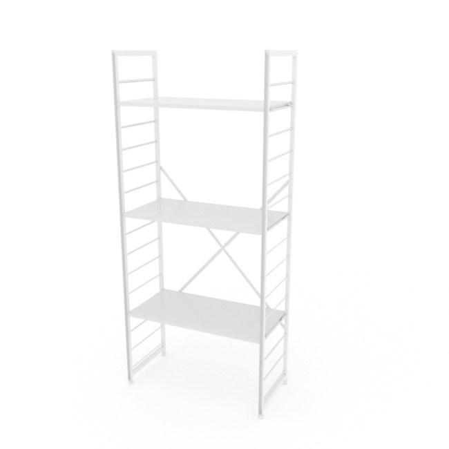 (組)特力屋萊特三層架白框/白板-80x40x188cm