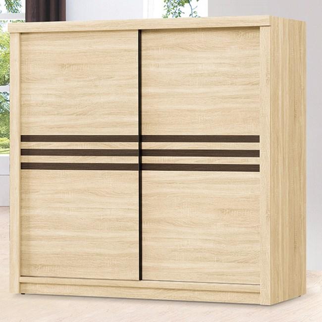 【YFS】布德5尺原切木衣櫃-151x60x198cm