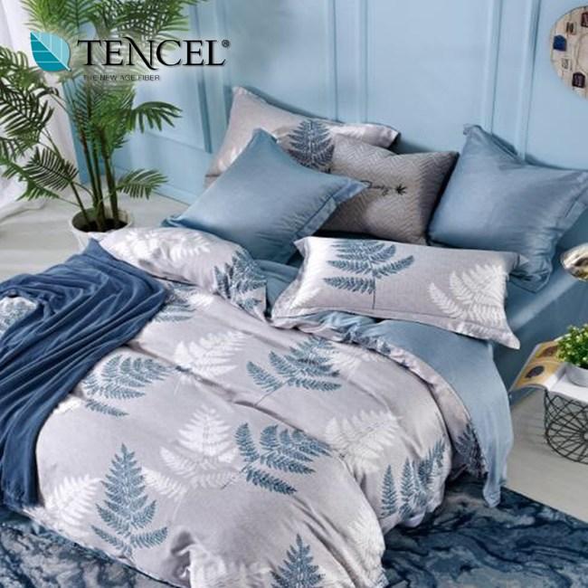 【貝兒居家寢飾生活館】100%天絲全鋪棉床包兩用被四件組(特大雙人/燃夢)