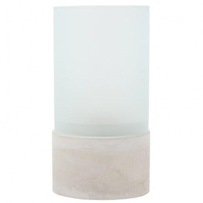 光影柱型玻璃水泥燭臺