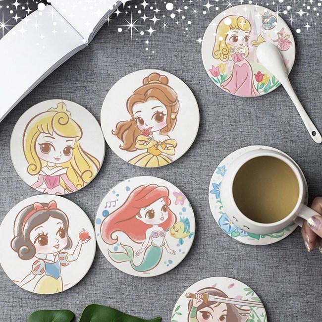 【收納王妃】迪士尼童話公主風珪藻土杯墊(2入一組)白雪公主