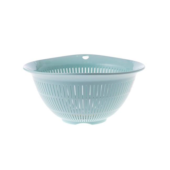 Richell抗菌碗型瀝水籃-藍