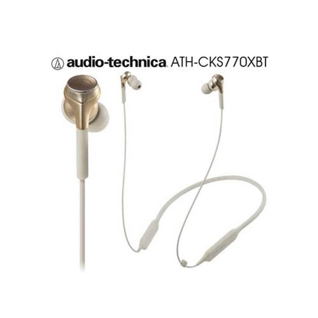 鐵三角 ATH-CKS770XBT 金 繞頸式入耳式耳機 藍芽重低音