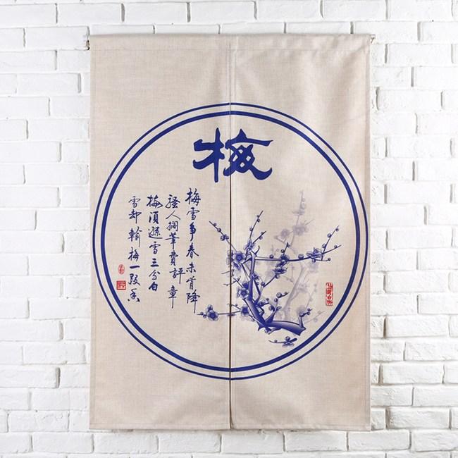 HONEY COMB 梅 棉麻門簾 風水簾GT-3861