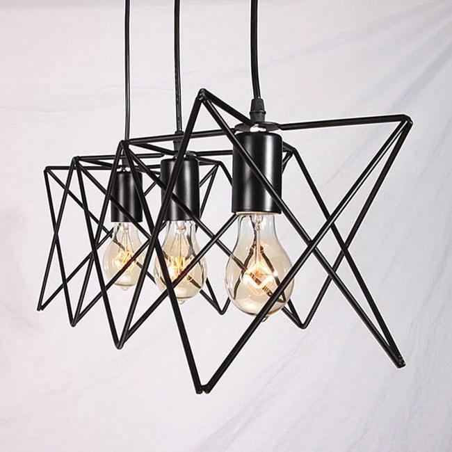HONEY COMB 工業風線條三吊燈 TA4382D