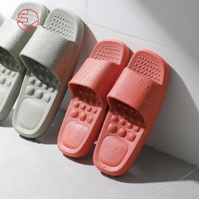 【日本霜山】女款環保EVA輕量無臭防滑拖鞋(室內/室外/浴室)-2色24cm(37-38)