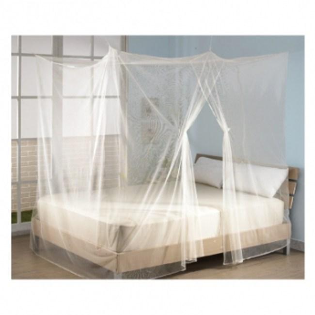便利防蚊四方型蚊帳雙人米黃