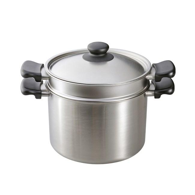 日本柳宗理 不銹鋼義大利麵鍋(含外鍋、內鍋、鍋蓋共三件)