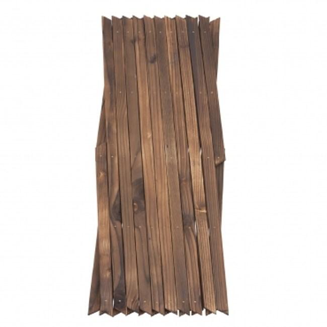 燻木伸縮籬笆 H67cm