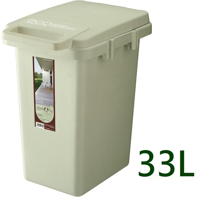 【日本RISU】連結式環保垃圾桶森林系33L-淺綠色