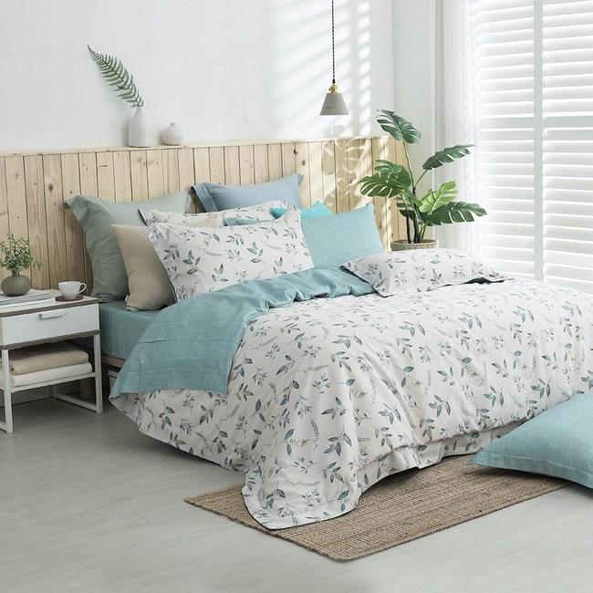 MONTAGUT-春意之沐-300織紗長絨棉兩用被床包組(特大)