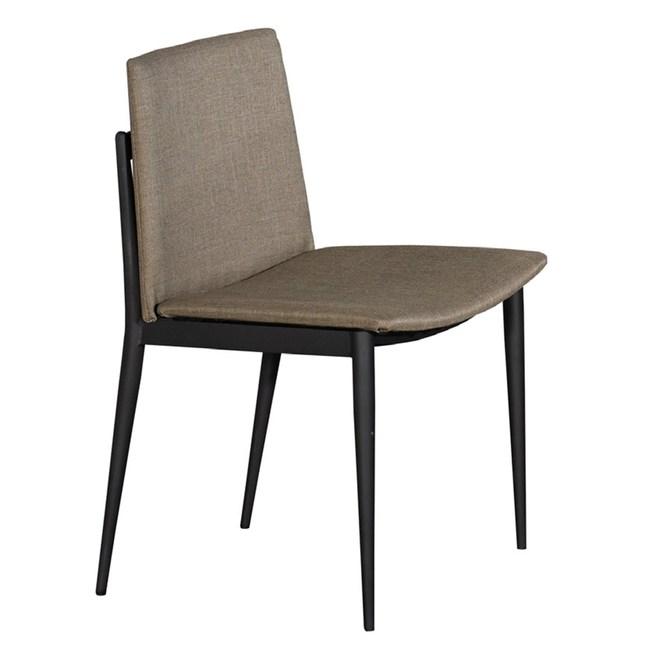 艾里斯黑腳棕色布餐椅