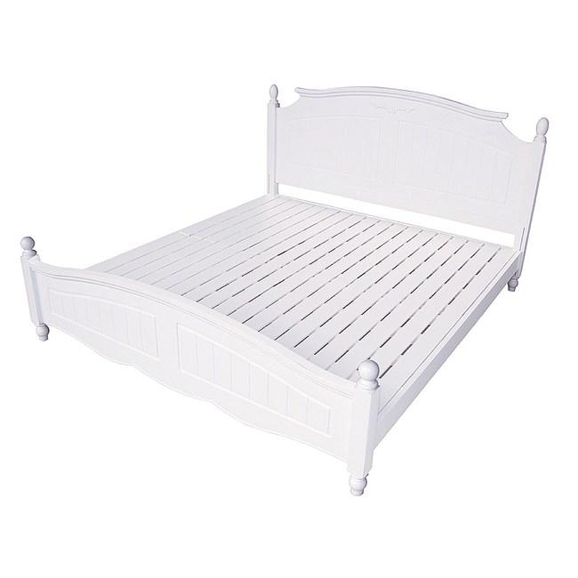 【YFS】伊森白色雙人加大6尺床台-180x203x106cm