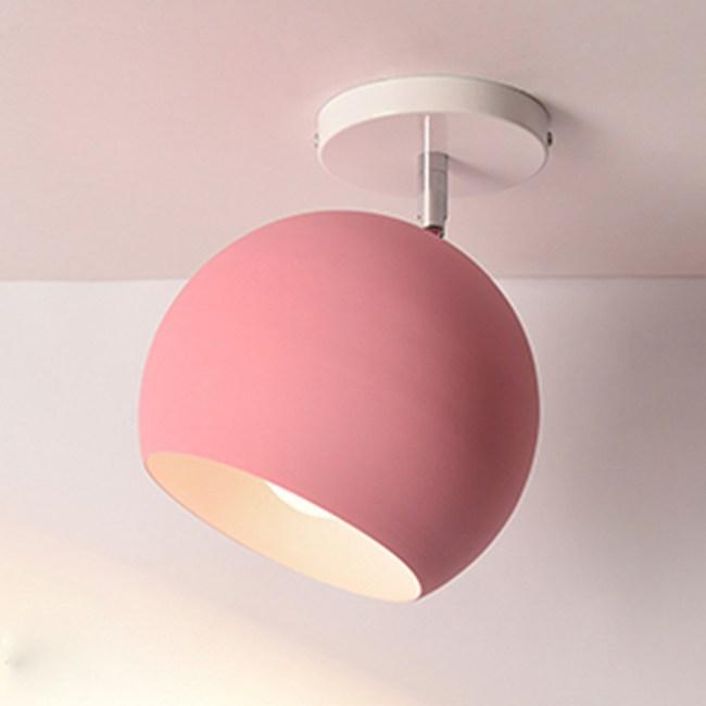 HONEY COMB 五彩馬卡龍色系圓罩吸頂燈 五色款 粉色 TA8905