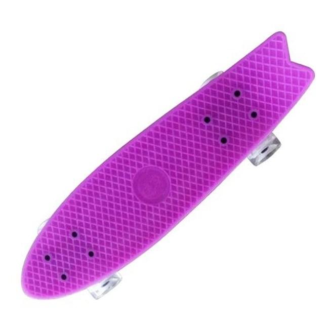 TECHONE S9 23吋夜光交通板 滑板 小魚板紫