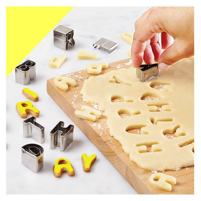 【COMET】不鏽鋼26件組英文字母餅乾蛋糕模(JD-01)