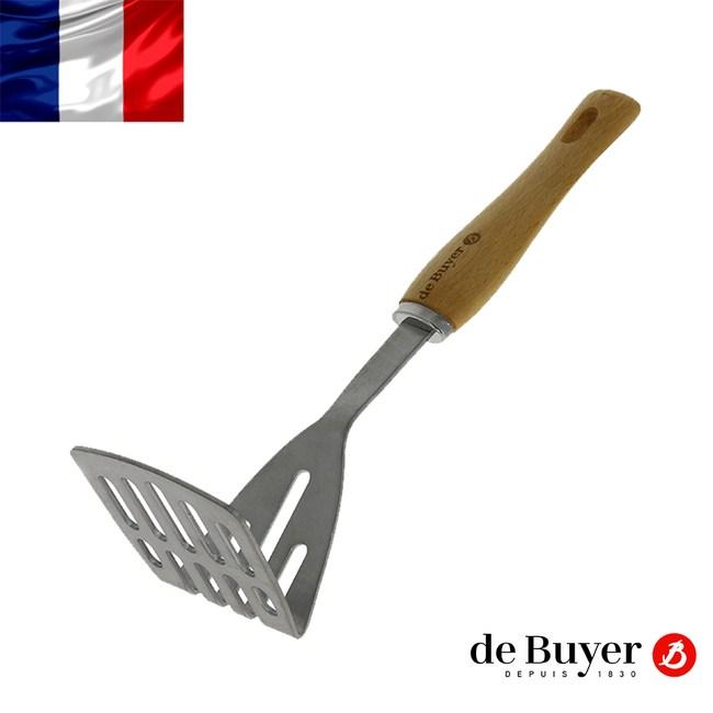 de Buyer畢耶 蜂蠟木柄系列-調理搗泥壓&煎勺29cm