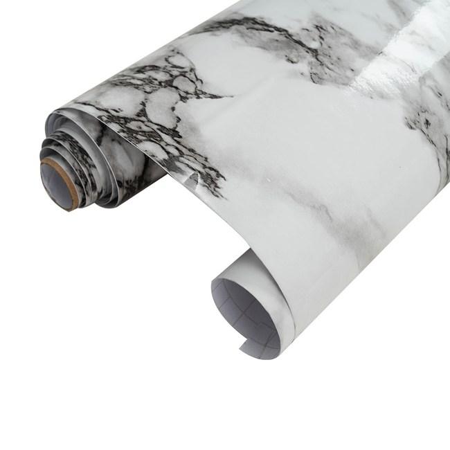 樂嫚妮 大理石紋壁貼 60X300cm-大理石白大理石白
