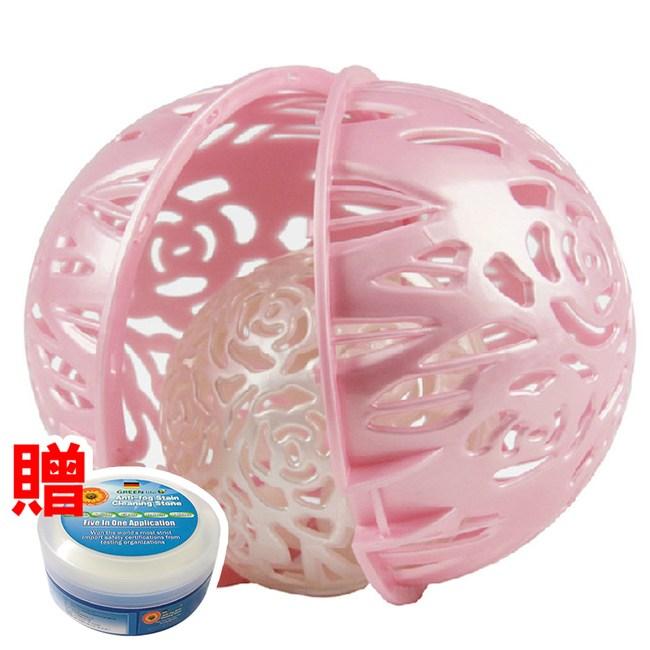 【媽媽咪呀】日本熱銷防變形洗衣球_超值2盒組(加贈萬用去污膏一罐)珍珠白