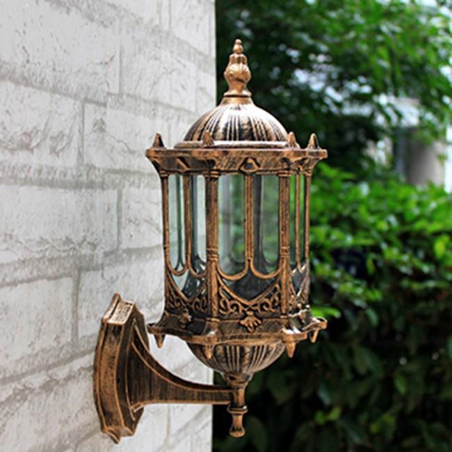 【光的魔法師 】城堡壁燈 歐式戶外復古小工藝鋁質防銹壁燈