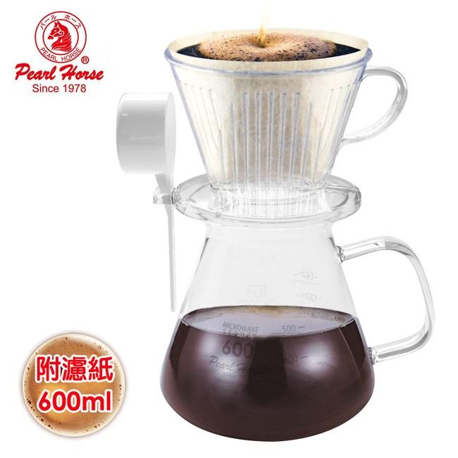 【日本寶馬】600ml滴漏咖啡壺組 TA-P-102-SET