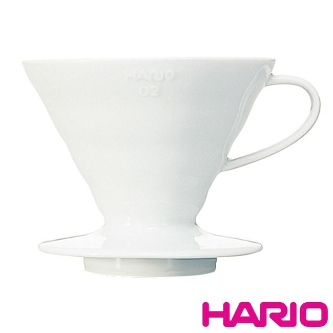 【HARIO】V60白色01磁石濾杯1~4杯 VDC-02W