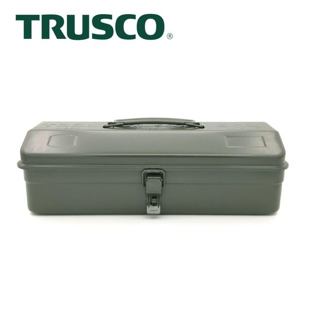 【Trusco】山型單層工具箱-墨綠