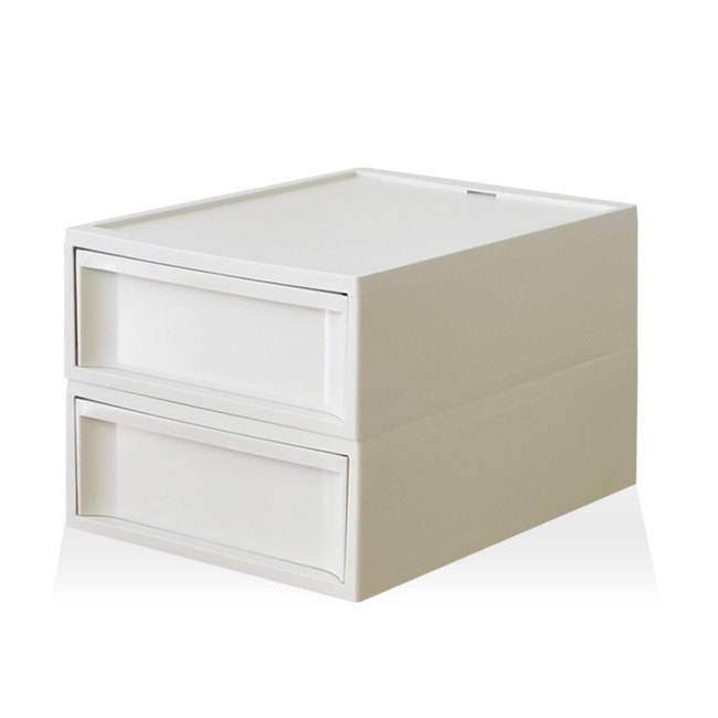 【RISU】北歐風堆疊抽屜櫃組(加大版) S -白色