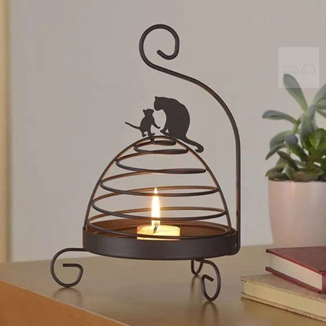 【Meric Garden】復古創意手工金屬蚊香盤/薰香盤/小物收納盤鳥籠貓咪