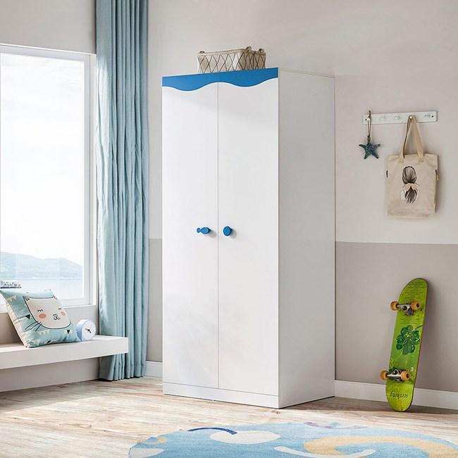 林氏木業地中海系列實木雙門衣櫃 DF2D
