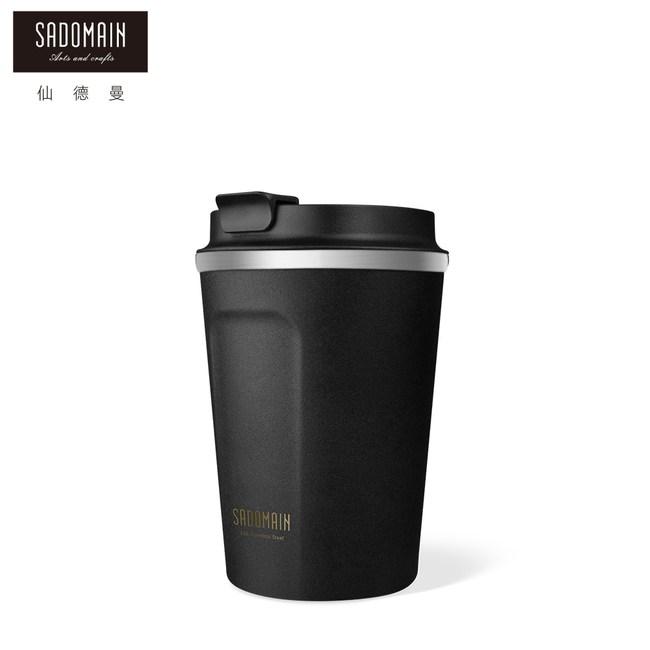 【仙德曼 SADOMAIN】316咖啡直飲保溫杯360cc-黑色360cc