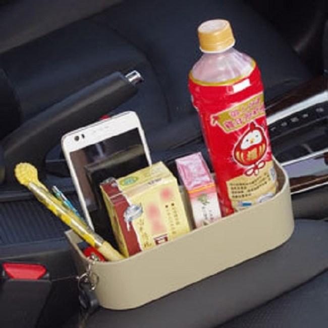 高質感汽車夾縫多功能置物架置杯架卡其