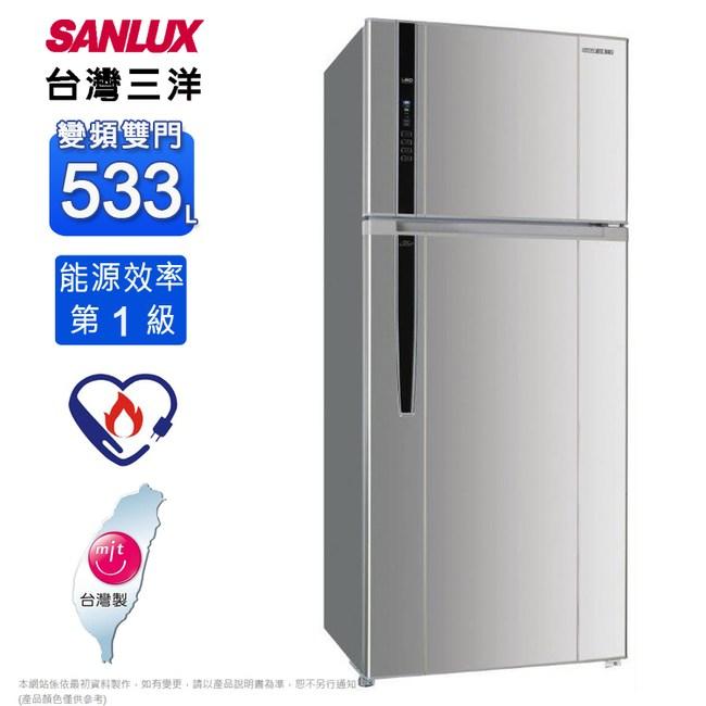 三洋1級533公升直流變頻雙門冰箱 SR-C533BV1~含拆箱定位