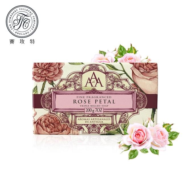 英國賽玫特AAA花卉護膚香皂200g-玫瑰花瓣X3